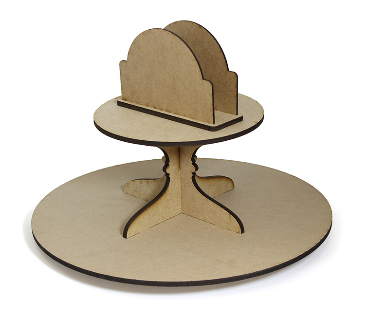 Round Lazy Susan with Napkin Holder