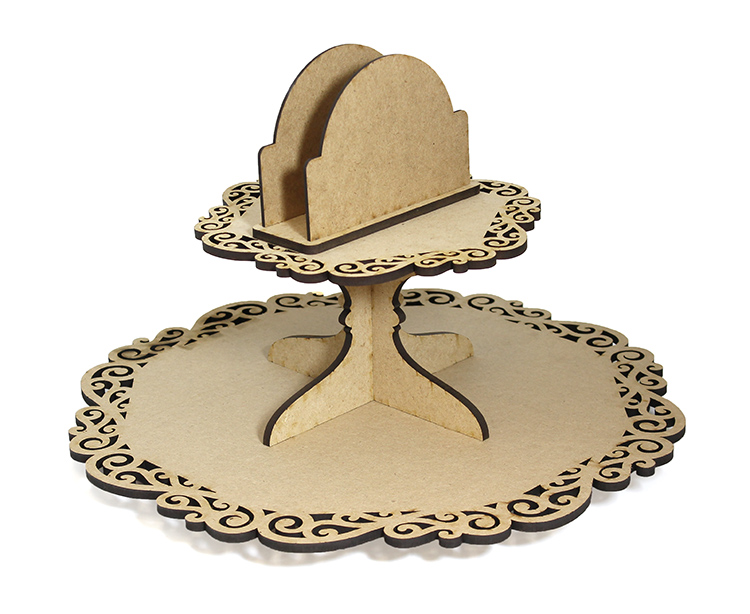 Scroll Lazy Susan with Napkin Holder - Includes Base