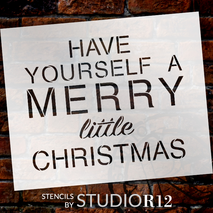 Have yourself a merry little christmas word stencil 11 for Merry christmas letter stencils
