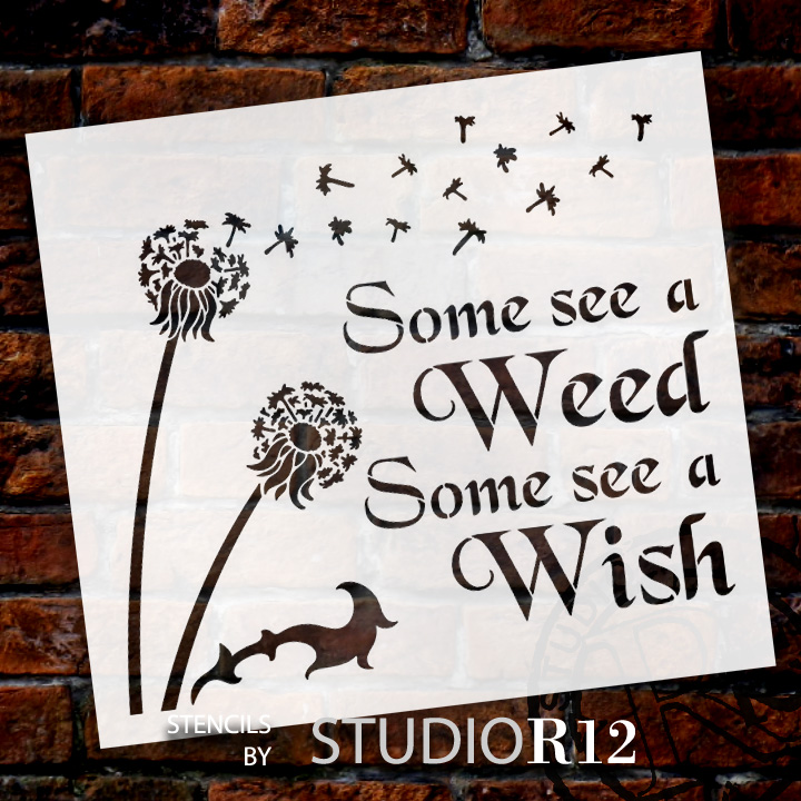 "Some See A Wish - Art Stencil - 11"" x 10"" - STCL1442_1"