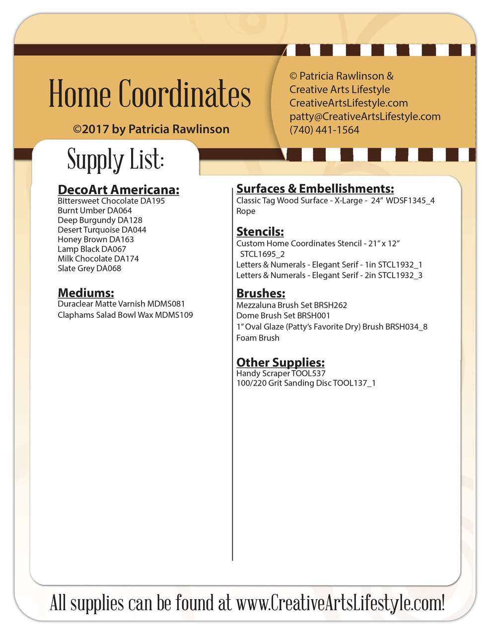 Home Coordinates - Pattern Packet - Patricia Rawlinson