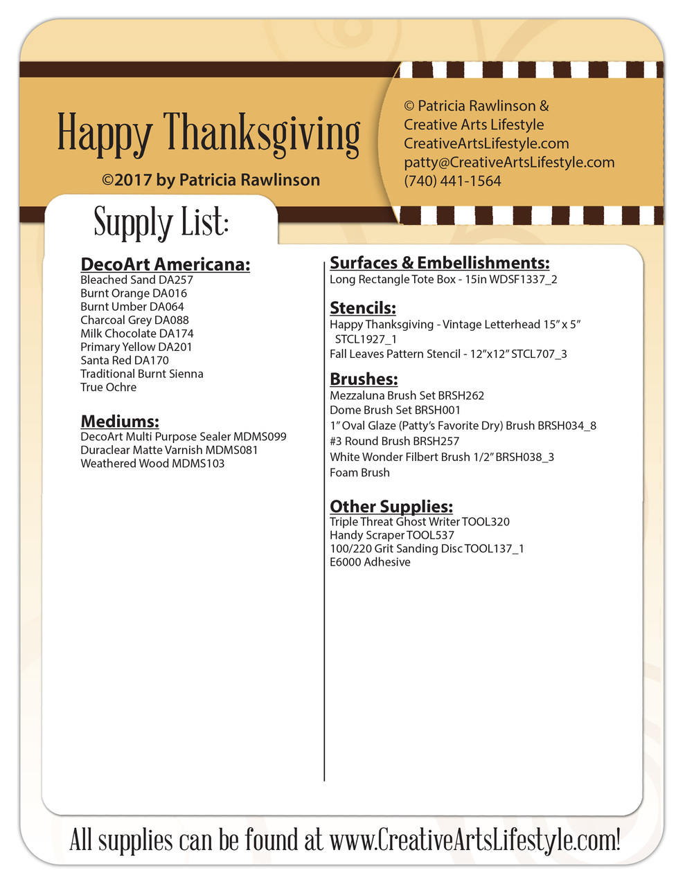 Happy Thanksgiving - DVD and Pattern Packet - Patricia Rawlinson