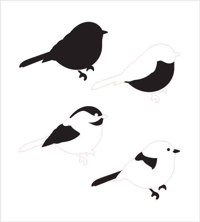 "Chickadee Layered Stencil - 9"" x 10"""