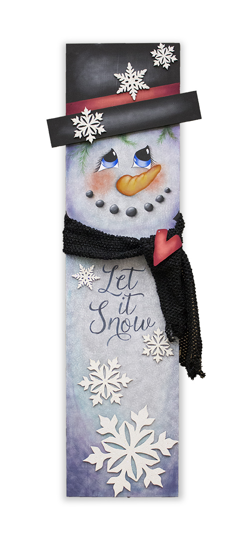 Snowman Tall Porch Sign - E-Packet - Patricia Rawlinson
