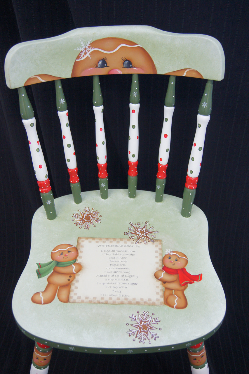 Gingerbread Christmas Chair E-Packet - Wendy Fahey