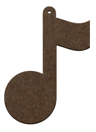 Wood Ornament- Musical Note