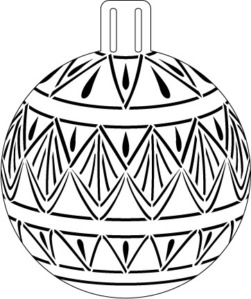 String Of Pearls Lace Ornament Stencil