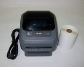 Zebra ZP450 Thermal Label Printer USB & Ethernet Connections & 250 labels