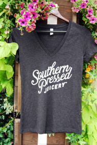 Southern Pressed Juicery's Gray Women's                                                                      V neck  T-shirt