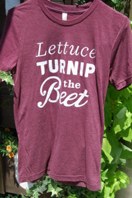 "Southern Pressed Juicery's Maroon ""Lettuce Turnip the Beet"" T-shirt"