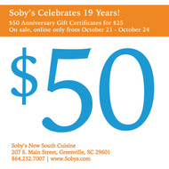 Soby's 19th Birthday Gift Certificate