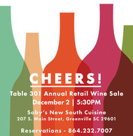 Table 301's Annual Retail Wine Sale
