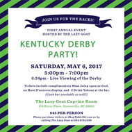 The Lazy Goat Kentucky Derby Party