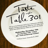 3rd Annual Taste of Table 301