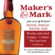 Wood, Wheat, Water, Wax: Soby's 20th Maker's Mark Private Select Sip & Learn
