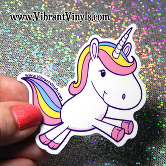Unicorn Sticker - Indoor or Outdoor - Cars, laptops, notebooks, drink ware & more.