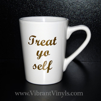 Treat yo self - Black or White Mug