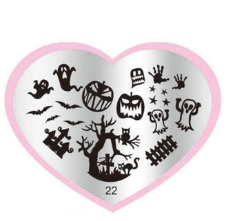 Halloween Stamping Plate - Heart 22