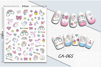Unicorn Nail Stickers - Peel & Stick