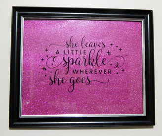 Framed Glitter Art Piece - Sparkle
