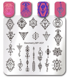 Geometry - Square Stamping Plate - Born Pretty X37
