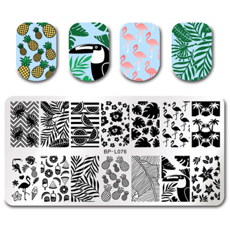 Summer Vibes - Rectangle Stamping Plate - Born Pretty L076