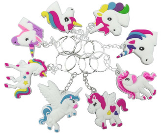 Colorful Unicorn Keychains
