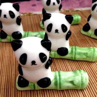 Bamboo Panda Brush Rests