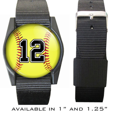 Personalized Softball Bracelet/Wristband With Your Number