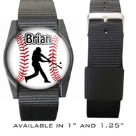 Personalized Baseball Batter Bracelet/Wristband With Name