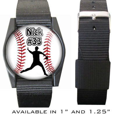 Personalized Baseball Pitcher Bracelet/Wristband With Name and Number
