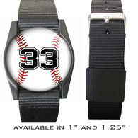 Personalized Baseball Bracelet/Wristband With Jersey Number