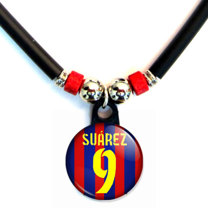 Luiz Suarez #9 Barcelona Home Jersey Necklace