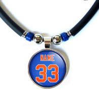 New York Mets personalized 3d glass Necklace
