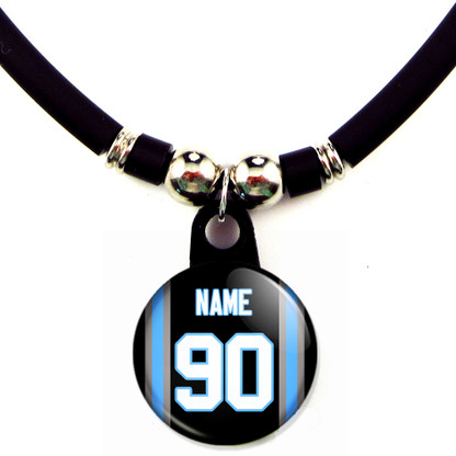 Personalized Carolina Panthers Necklace With Name and Number NFL