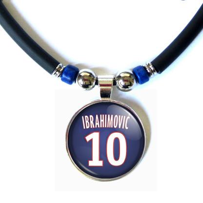 Zlatan Ibrahimovic 3D Glass #10 PSG 2015-2016 Jersey Necklace