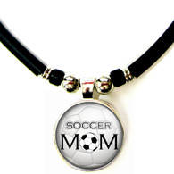 Soccer Mom 3D Glass Pendant Necklace