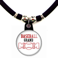 Baseball grand mom necklace