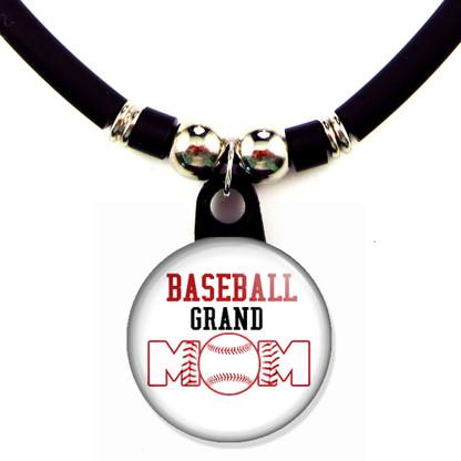 Baseball grand mom necklace