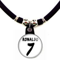 Cristiano Ronaldo #7 Real Madrid 2013-2014 Home Jersey Necklace