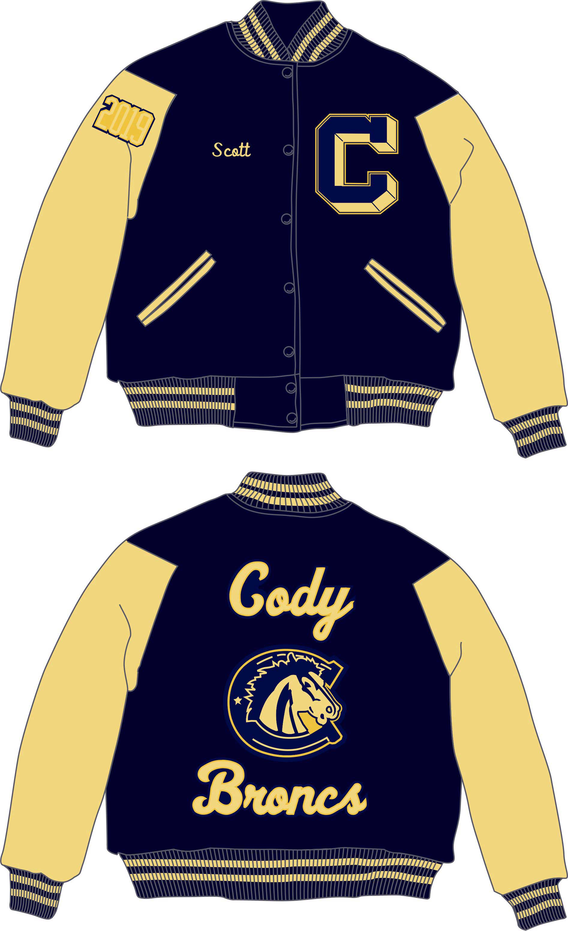 Cody High School Letter Jacket - Rocky Mountain Balfour
