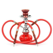 Red Double Hose Pumpkin Hookah