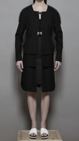 Moradi Coat - Black Dupioni