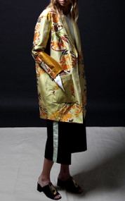 Dolce Coat - Gold Brocade