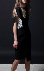 Grannis Dress - Black / Feathers
