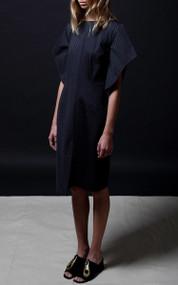 Grannis Dress - Pinstripe
