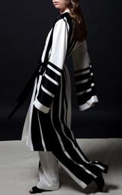 Denson Robe Coat - Linen Stripe
