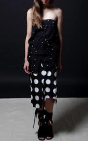 Dmitry Skirt - White Dot