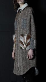 Sharpe Coat - Tweed/Fox