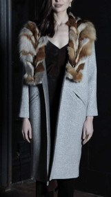 Kleinart Coat - Silver/Fox